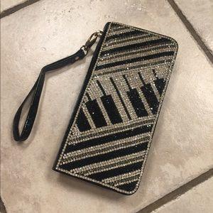 Handbags - Beautiful Crystal Piano covered zippy wallet